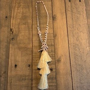 Free people rose gold  tassel necklace✨